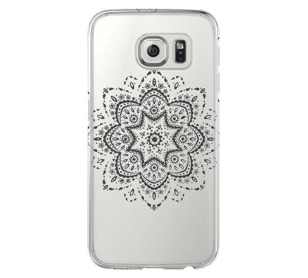 online retailer 82992 a01a5 Art Floral Pattern Samsung Galaxy S6 Edge Clear Case Galaxy S6 Transparent  Case Samsung S5 Hard Cover C026