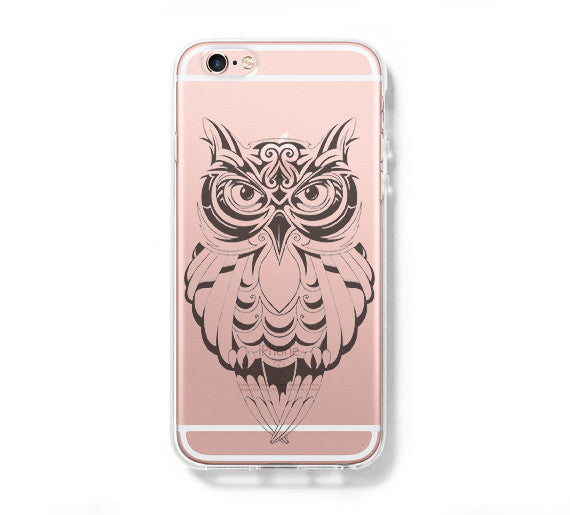 OWL Hard Clear iPhone 6 Case, iPhone 6s Plus Case, Galaxy S6 Edge Case C027 - Apple iPhone Xs/iPhone Xr case by Retina Designs