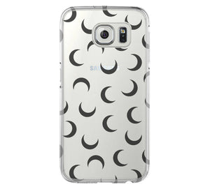 Moon iPhone 6 Case Hard Clear iPhone 6s Plus Case, Galaxy S6 Edge Case C028 - Apple iPhone Xs/iPhone Xr case by Retina Designs