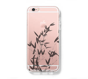 Bamboo Tree iPhone 6 Case Clear Hard iPhone 6s Plus Case, Galaxy S6 Edge Case C030 - Apple iPhone Xs/iPhone Xr case by Retina Designs