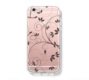 Floral Pattern iPhone 6 Case Clear Hard iPhone 6s Plus Case, Galaxy S6 Edge Case C033 - Apple iPhone Xs/iPhone Xr case by Retina Designs