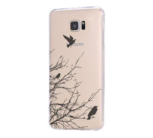 Flying Birds Samsung Galaxy s6 Clear Hard case, Galaxy S6 Edge Case, Galaxy S5 case C035 - Apple iPhone Xs/iPhone Xr case by Retina Designs