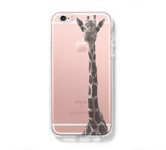 Giraffe iPhone 6 Case, iPhone 6s Plus Case, Galaxy S6 Edge Clear Hard Case C038 - Apple iPhone Xs/iPhone Xr case by Retina Designs