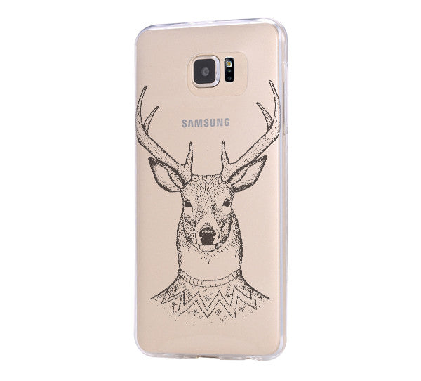 Deer Samsung Galaxy s6 case, Galaxy S6 Edge Case, Galaxy S5 Clear Hard case C039 - Apple iPhone Xs/iPhone Xr case by Retina Designs