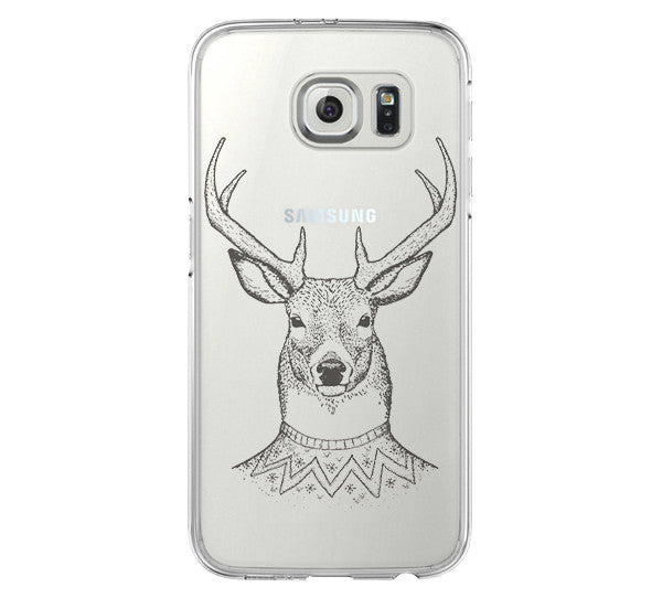 Deer iPhone 6 Case, iPhone Clear Hard 6s Plus Case, Galaxy S6 Edge Case C039