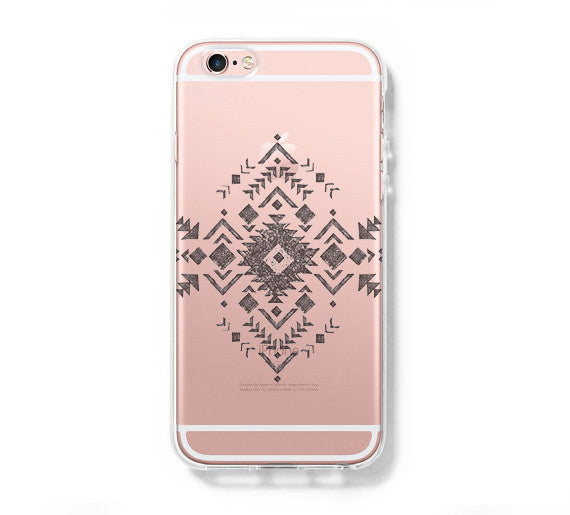 Tribal Symbol iPhone 6 Case, iPhone 6s Plus Case, Galaxy S6 Edge Clear Hard Case C040