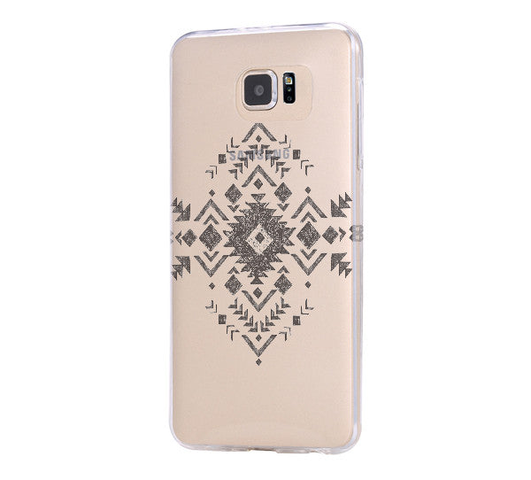 Tribal Symbol Samsung Galaxy s6 case, Galaxy S6 Edge Case, Galaxy S5 Clear Hard case C040