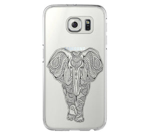 Tribal Elephant Samsung Galaxy s6 case, Galaxy S6 Edge Case, Galaxy S5 Clear Hard case C042 - Apple iPhone Xs/iPhone Xr case by Retina Designs