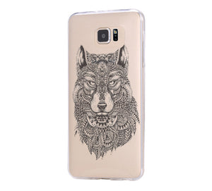 Tribal Wolf Samsung Galaxy s6 case, Galaxy S6 Edge Case, Galaxy S5 Clear Hard case C043 - Apple iPhone Xs/iPhone Xr case by Retina Designs