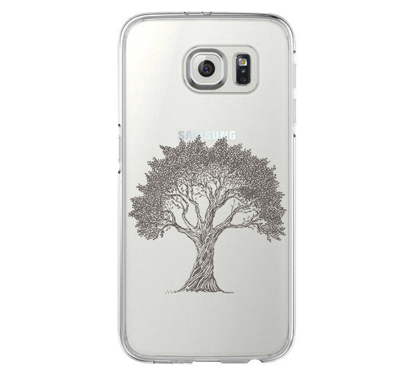 Tree Pattern Galaxy s6 Case Galaxy S6 Edge Case Galaxy S5 Clear Hard case C045 - Apple iPhone Xs/iPhone Xr case by Retina Designs