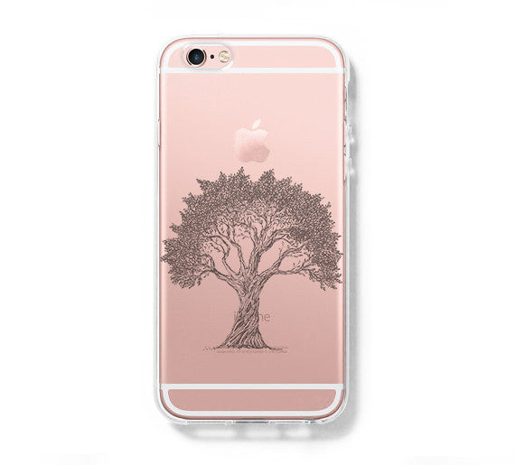 Tree Pattern iPhone 6 Case iPhone 6s Plus Case Galaxy S6 Edge Clear Hard Case C045