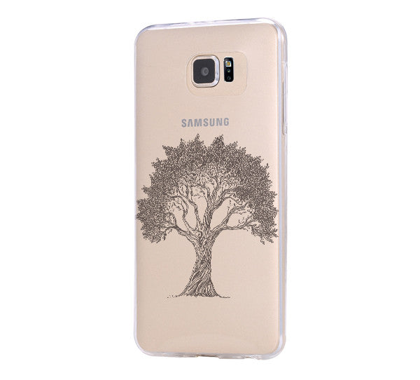 Tree Pattern iPhone 6 Case iPhone 6s Plus Case Galaxy S6 Edge Clear Hard Case C045 - Apple iPhone Xs/iPhone Xr case by Retina Designs