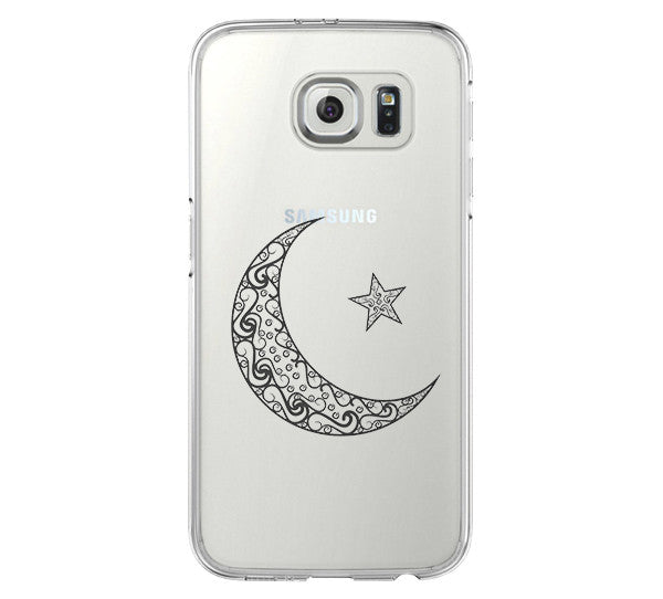 Moon Star iPhone 6 Case iPhone 6s Plus Case Galaxy S6 Edge Clear Hard Case C046 - Apple iPhone Xs/iPhone Xr case by Retina Designs