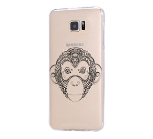 Big Monkey Galaxy s6 Case Galaxy S6 Edge Case Galaxy S5 Clear Hard case C047 - Apple iPhone Xs/iPhone Xr case by Retina Designs