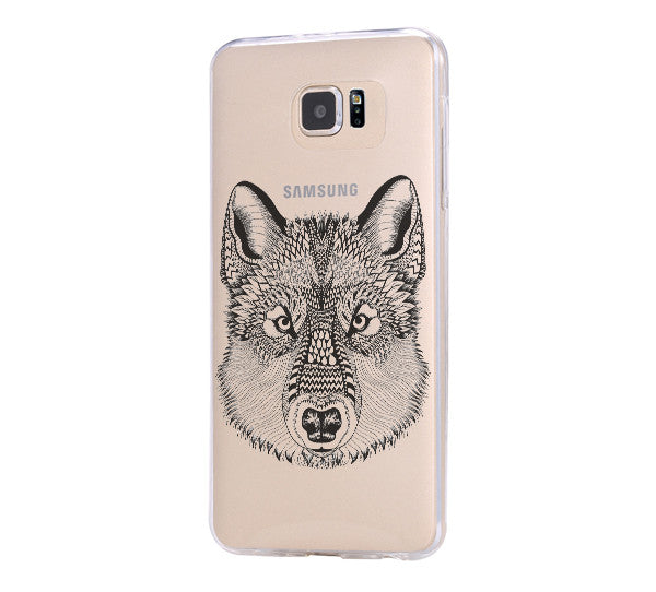 Wolf iPhone 6 Case iPhone 6s Plus Case Galaxy S6 Edge Clear Hard Case C048