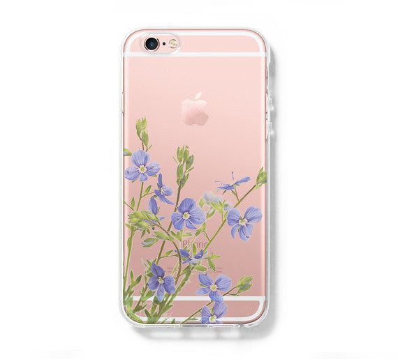 Flower Spring iPhone 6 Clear Hard Case, iPhone 6s Plus Case, Galaxy S6 Edge Case C069