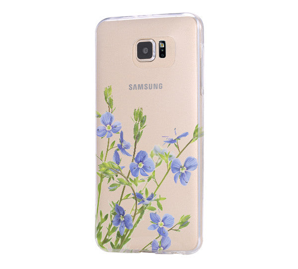 Flower Spring Clear Hard Samsung Galaxy s6 case, Galaxy S6 Edge Case, Galaxy S5 case C069