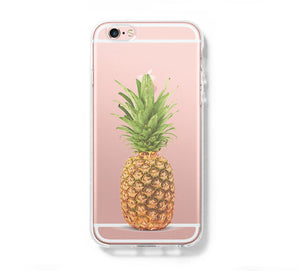 Pineapple Fruit Clear Hard Samsung Galaxy s6 case, Galaxy S6 Edge Case, Galaxy S5 case C070 - Apple iPhone Xs/iPhone Xr case by Retina Designs