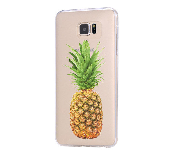 Pineapple Fruit iPhone 6 Case Clear Hard iPhone 6s Plus Case, Galaxy S6 Edge Case C070