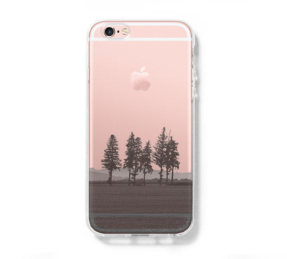 Forest Landscape iPhone 6 Case iPhone 6s Plus Case Galaxy S6 Edge Clear Hard Case C079 - Apple iPhone Xs/iPhone Xr case by Retina Designs