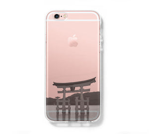 Itsukushima Torii Gate in Miyajima Japan iPhone 6 Case iPhone 6s Plus Case Galaxy S6 Edge Clear Hard Case C080 - Apple iPhone Xs/iPhone Xr case by Retina Designs