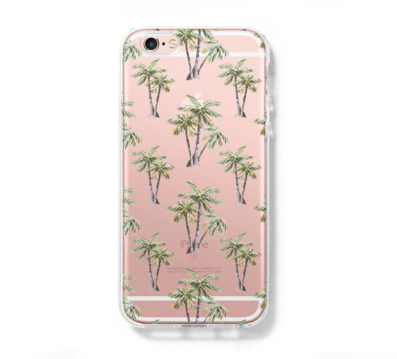 Palm Tree Pattern iPhone 6 Case iPhone 6s Plus Case Galaxy S6 Edge Clear Hard Case C083