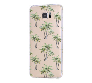 Palm Tree Pattern iPhone 6 Case iPhone 6s Plus Case Galaxy S6 Edge Clear Hard Case C083 - Apple iPhone Xs/iPhone Xr case by Retina Designs