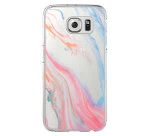 Pastel Silk Abstract iPhone 6 Case iPhone 6s Plus Case Galaxy S6 Edge Clear Hard Case C116 - Retina Designs
