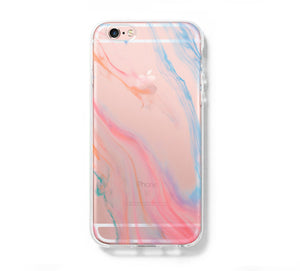 Pastel Silk Abstract Galaxy s6 Case Galaxy S6 Edge Case Galaxy S5 Clear Hard case C116 - Apple iPhone Xs/iPhone Xr case by Retina Designs