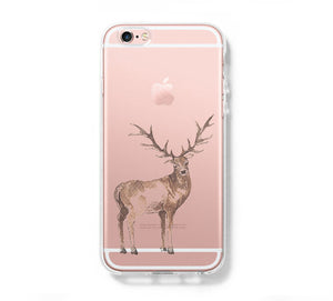 Deer Galaxy s6 Case Galaxy S6 Edge Case Galaxy S5 Clear Hard case C129 - Apple iPhone Xs/iPhone Xr case by Retina Designs