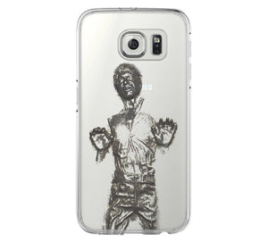 Han Solo iPhone 6 Case iPhone 6s Plus Case Galaxy S6 Edge Clear Hard Case C134 - Retina Designs