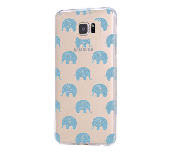 Elephant Pattern iPhone 6 Case iPhone 6s Plus Case Galaxy S6 Edge Clear Hard Case C139 - Apple iPhone Xs/iPhone Xr case by Retina Designs
