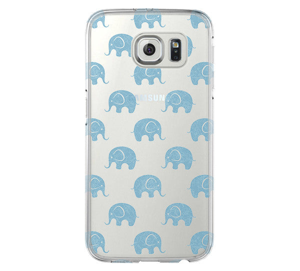 Elephant Pattern Galaxy s6 Case Galaxy S6 Edge Case Galaxy S5 Clear Hard case C139 - Apple iPhone Xs/iPhone Xr case by Retina Designs