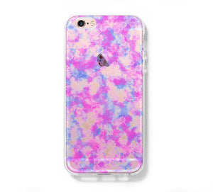 Pastel Abstract iPhone 6 Case iPhone 6s Plus Case Galaxy S6 Edge Clear Hard Case C156 - Apple iPhone Xs/iPhone Xr case by Retina Designs