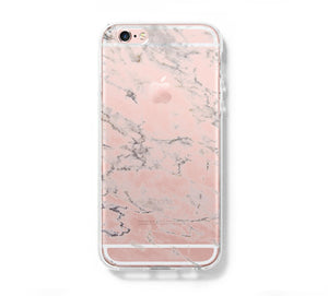 Marble Print iPhone 6 Case iPhone 6s Plus Case Galaxy S6 Edge Clear Hard Case C157 - Apple iPhone Xs/iPhone Xr case by Retina Designs