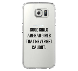 Good Girl Bad Girl iPhone 6 Case iPhone 6s Plus Case Galaxy S6 Edge Clear Hard Case C159 - Apple iPhone Xs/iPhone Xr case by Retina Designs