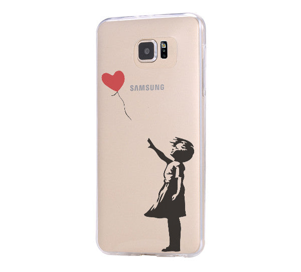 Banksy girl iPhone 6 Case iPhone 6s Plus Case Galaxy S6 Edge Clear Hard Case C163 - Retina Designs