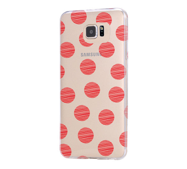 Big Fire Polka Dots Galaxy s6 Case Galaxy S6 Edge Case Galaxy S5 Clear Hard case C165 - Apple iPhone Xs/iPhone Xr case by Retina Designs