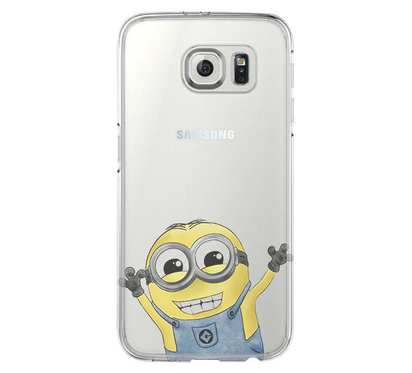 Despicable Me Galaxy s6 Case Galaxy S6 Edge Case Galaxy S5 Clear Hard case C167 - Apple iPhone Xs/iPhone Xr case by Retina Designs