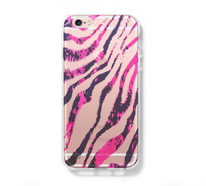 Fashion Zebra iPhone 6 Case iPhone 6+ SE Case Galaxy S6 Edge Clear Hard Case C174 - Apple iPhone Xs/iPhone Xr case by Retina Designs
