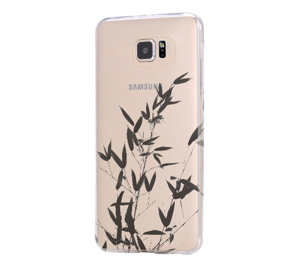 Bamboo Tree Clear Hard Samsung Galaxy s6 case, Galaxy S6 Edge Case, Galaxy S5 case C030