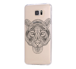 Tiger Tribal Style Galaxy s6 Case Galaxy S6 Edge Case Galaxy S5 Clear Hard case C050 - Apple iPhone Xs/iPhone Xr case by Retina Designs