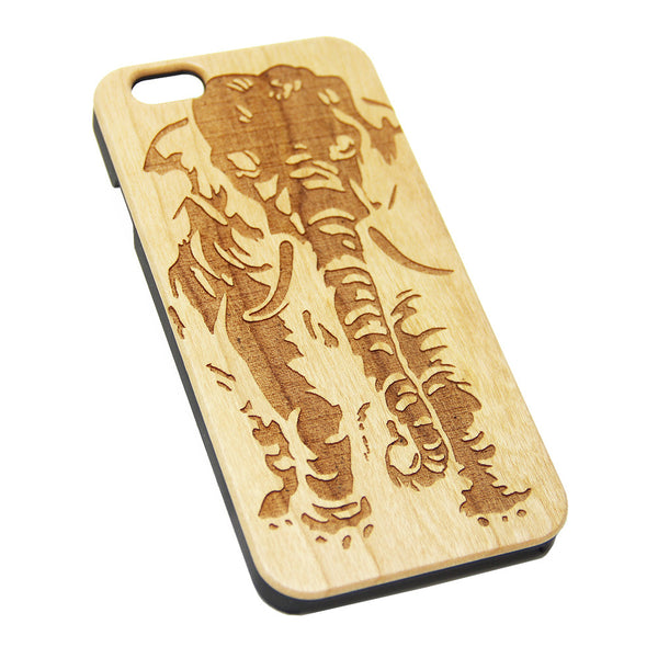 Elephant Cherry Wood Engraved iPhone 6s Case iPhone 6 Case iPhone 6s 6 Plus Cover Natural Wooden iPhone 5s 5 Case Samsung Galaxy S6 S5 Case D104