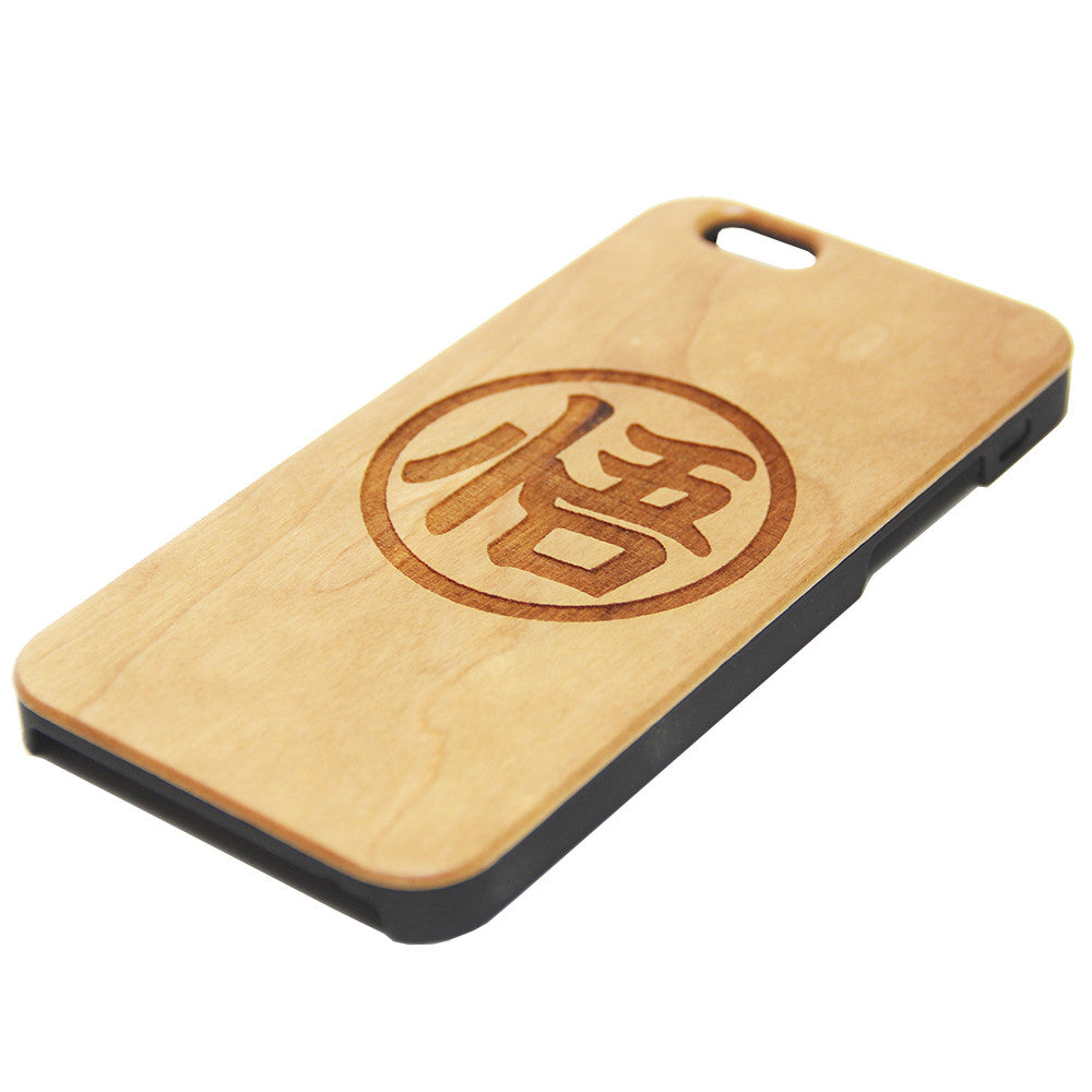 Goku Symbol Inspired Wood Engraved iPhone 6s Case iPhone 6 Case iPhone 6s 6 Plus Cover Natural Wooden iPhone 5s 5 Case Samsung Galaxy S7 Edge S6 S5 Case D129 - Apple iPhone Xs/iPhone Xr case by Retina Designs