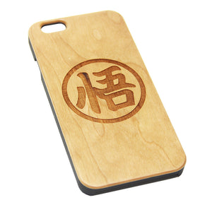 Goku Symbol Inspired Wood Engraved iPhone 6s Case iPhone 6 Case iPhone 6s 6 Plus Cover Natural Wooden iPhone 5s 5 Case Samsung Galaxy S7 Edge S6 S5 Case D129