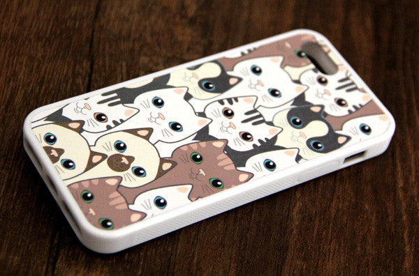 Adorable Cats Animal iPhone 6s 6 plus case iPhone 6s rubber case iPhone 5s 5 5c silicone case iPhone 6 Case - Apple iPhone Xs/iPhone Xr case by Retina Designs
