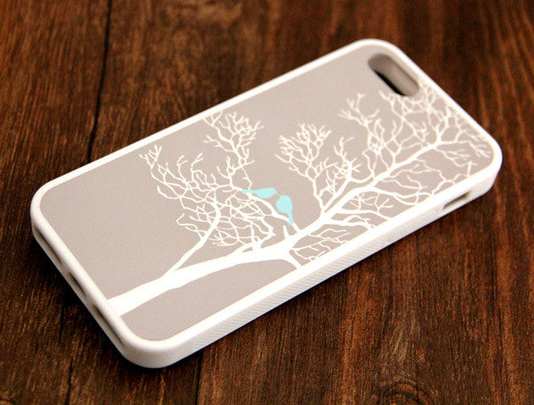 Gray Tree Loving Birds iPhone 6s 6 plus case iPhone 6s rubber case iPhone 5s 5 5c silicone case iPhone 6 Case - Apple iPhone Xs/iPhone Xr case by Retina Designs
