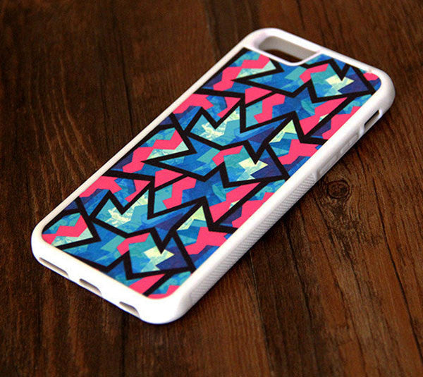 Color Zigzag Geometric iPhone 6s 6 plus case iPhone 6s rubber case iPhone 5s 5 5c silicone case iPhone 6 Case - Apple iPhone Xs/iPhone Xr case by Retina Designs