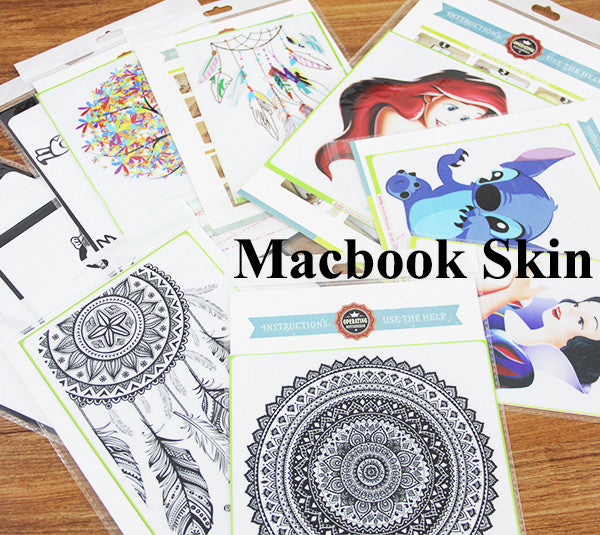 "Cute Mermaid DIY MacBook Skin Decal Sticker for Apple Macbook Pro Air Mac 13"" inch Laptop 13 Inch SKI-005"