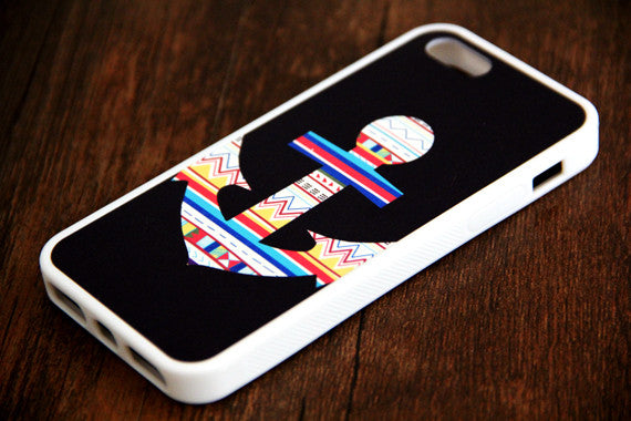 Ethnic Anchor iPhone 6s 6 plus case iPhone 6s rubber case iPhone 5s 5 5c silicone case Retro iPhone 6 Case - Apple iPhone Xs/iPhone Xr case by Retina Designs